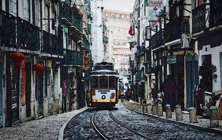 Lisbon Tram Street